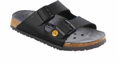 Birkenstock Sandals ''Arizona Esd'' From Birko-Flor In Black 40.0 Eu N front-911366
