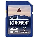 Kingston SD4/8GBIN 8GB SDHC Class 4 Memory Card