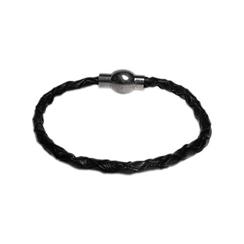 AUTHENTIC HANDMADE Leather Bracelet, Mens Womens Wristbands Braided Bangle Craft Multi Men Women (Studded Wristband Single)