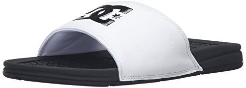 DC Men's Bolsa Slide Sandal, Black/White, 11 M US