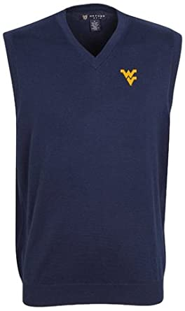 Oxford NCAA West Virginia Mountaineers Mens Bristol Sweater Vest by Oxford