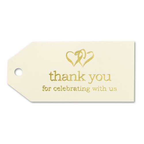 Hortense B. Hewitt Wedding Accessories 25-Pack Linked at the Heart Favor Cards, Ivory
