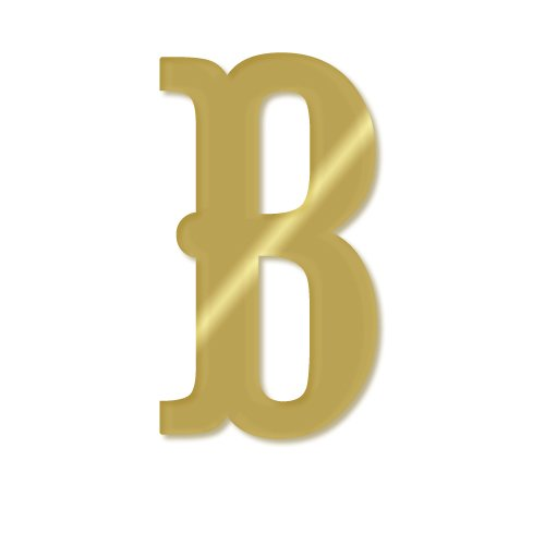 aBaby Noah Letter, B, Gold