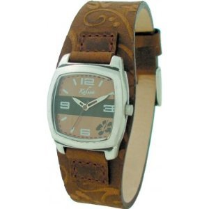 Kahuna Brown Cuff Strap Ladies Watch - AKUS-0029L