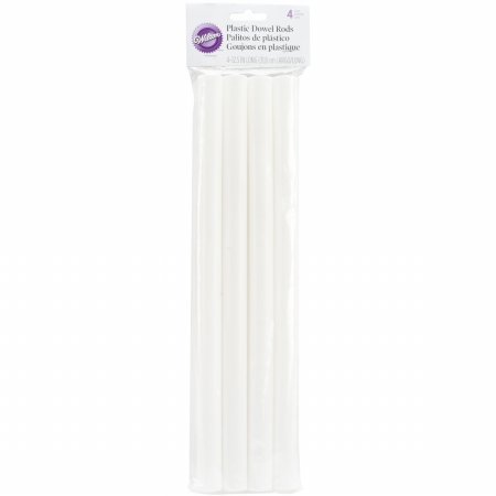 Plastic Dowel Rods 4/Pkg 12 3/8'X3/4'