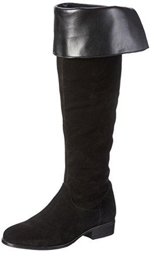 VERO MODAVMMILLE LEATHER OVERKNEE BOOT - Stivali sopra il ginocchio, non imbottiti Donna , Nero (Nero (nero)), 39 EU