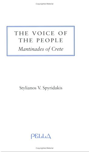 Voice of the People (Modern Greek Research Series)