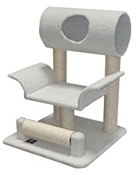 Cool Kitten Scratching Furniture with Tube, Off-White Color