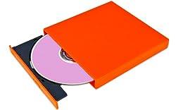 Grabadora Slim USB 2.0 DVD CD R/RW para ordenador portátil. Cable de Alimentación y Cable USB incluidos. Ligero y delgado. Plug and Play. Perfecto para Acer Aspire One, Apple MacBook Air Pro Retina, Asus Eee PC, Dell Mini, HP Mini, MSI Wind, Samsung N Series, Sony VAIO, Toshiba Mini etc. 1 Año de Garantía! - Naranja