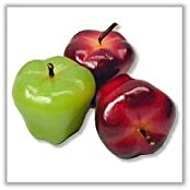 Washington Apple Candles Red And Green (Set Of 2 Candles)