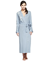 Per Una Modal Blend Cool Comfort™ Floral Embroidered Dressing Gown