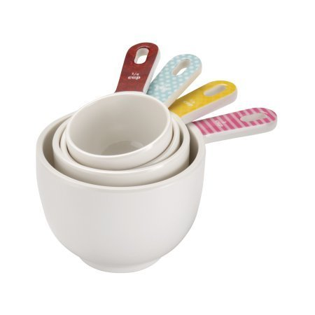 Cake Boss Countertop Accessories 4-Piece Melamine Measuring Cup Set, Basic Pattern by Cake Boss