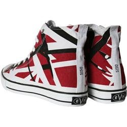 7e6b95846f Eddie Van Halen (EVH) Red Black and White Striped 1200 High Top Unisex  Sneakers