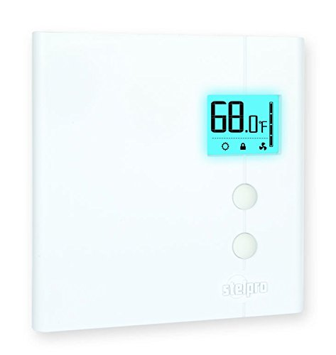 Single Pole Line Voltage Thermostat For Electric Heaters - Stelpro Ste402Np+-W Controls Up To 4,000 Watts. 240 V, 208 V, & 120 Volt Thermostat, Digital Display Non Programmable Line Voltage Thermostat With A Backlit Screen