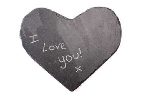 38 x 38 cm platos individuales Slate en forma de corazón plato/tabla de cortar queso, negro