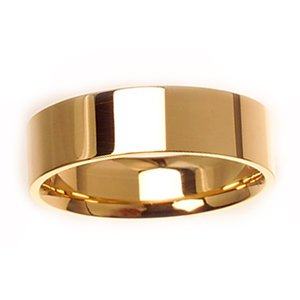 Women's 14k Yellow Gold Flat Comfort-Fit Wedding Band (6.00 mm)