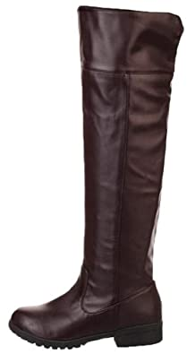 Lily Bell Attack on Titan Cosplay Knee-high Boot (6.5, Brown)