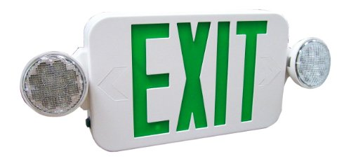 Royal Pacific RXEL33GW Exit Sign and Two Head Emergency Light Combo