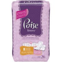 Kimberly Clark Poise Pantiliners, 19305 - 26 / Bag, 8 Bags / Case