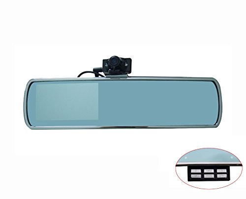 "D-Click Tm High Quality The Newest 4.3"" Tft Hd 720P 30Fps Car Rearview Mirror Monitor Car Dvr With 2 Camera One Front One Backside Uninterrupted Cycle Recording With Ir Night Vision (Cam 3) front-221374"