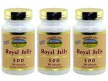 ROYAL JELLY 500 MG 3 MONTHS SUPPLY EACH BOTTLE HAS 30 Soft Gels