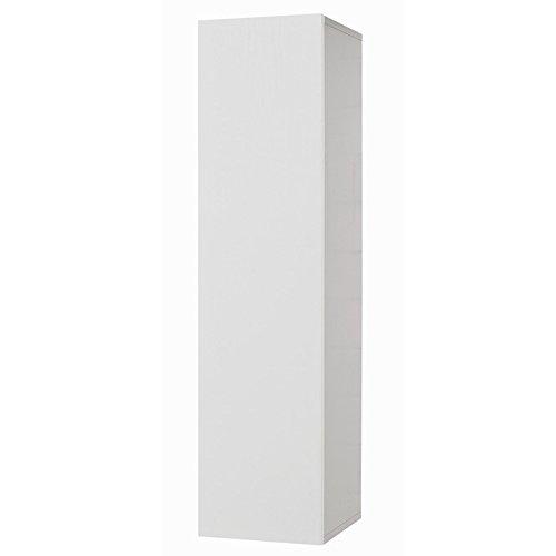 Pensile sospeso con anta bianco frassinato Cm 30x30xH 120