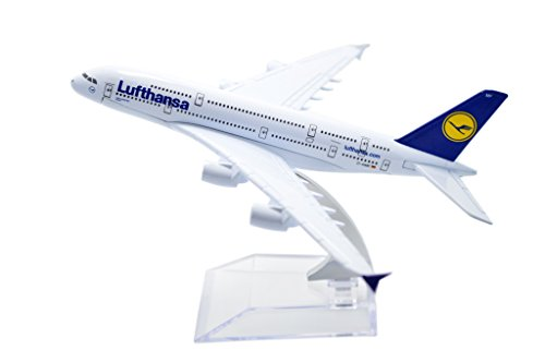 TANG DYNASTY(TM) 1:400 16cm Air Bus A380 Lufthansa Airlines Metal Airplane Model Plane Toy Plane Model (Lufthansa Model compare prices)