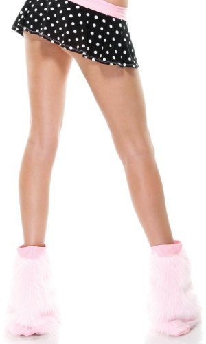 Fashion Hosiery Women's Furry Boot Covers w/ Band - Pink - OneSize