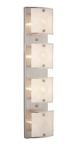 Best Remember to do not think twice to obtain Artcraft Lighting AC Brentwood Modern Contemporary Light Bathroom Light In Brushed Nickel With Frosted Glass