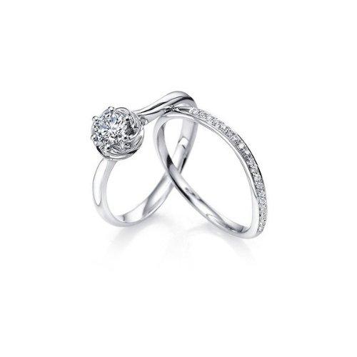 Finetresor 1/2 Diamond Bridal Set On 10K White Gold