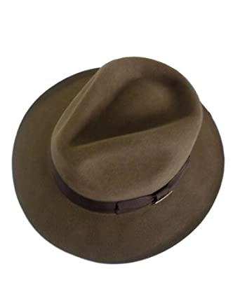 Indiana Jones Hat, Mens Indiana Jones Hat, Fur Felt Fedora Brown, Medium, 56.5 - 57.5 cm