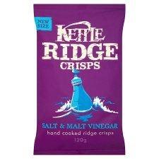 Kettle Ridge Crisps Salt Malt Vinegar 120g