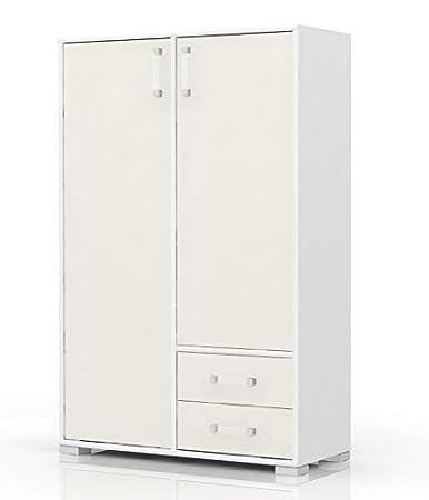 Kommode 27, Farbe: Weiß / Creme - Abmessungen: 134 x 86 x 37 cm (H x B x T)