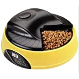 4 Meals Tray Automatic Pet Feeder Electronic Programmable Dry/Wet Food Dog Cat Feeder w/ LCD display