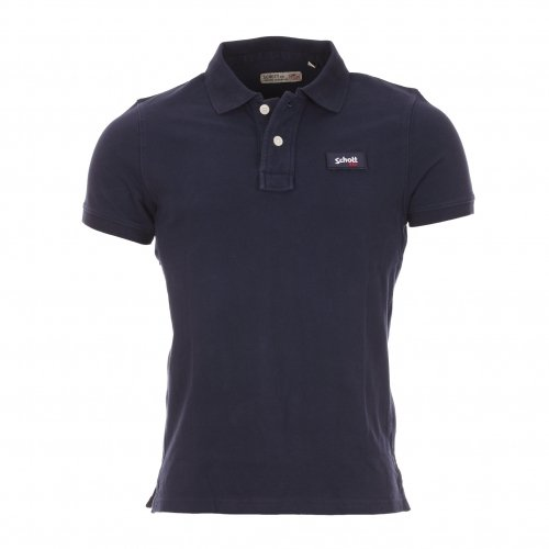 Schott NYC -  Polo  - Uomo Navy M