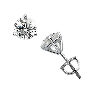 Clevereve's 14K White Gold 2Cttw I1,Gh Diamond Earrings