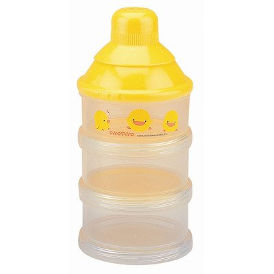 Piyo Piyo Three Layer Milk Powder Dispenser - Yellow - 1