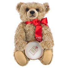 FAO Schwarz Limited Edition 24 inch 150th Anniversary Bear with Drum - Brown
