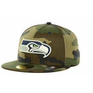 Seattle Seahawks New Era NFL Camo Pop 59FIFTY Cap (7 5/8) at Amazon.com