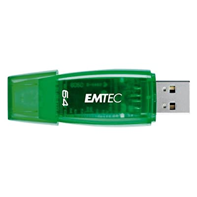 EMTEC C400 Candy II Series 64 GB USB 2.0 Flash Drive, Green