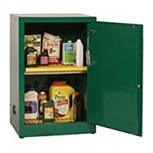 "Eagle PEST25 Pesticide Safety Cabinet, Manual Closing, 1 Door, 23"" Width x 35"" Height x 18"" Depth, 12 Gallon Capacity"