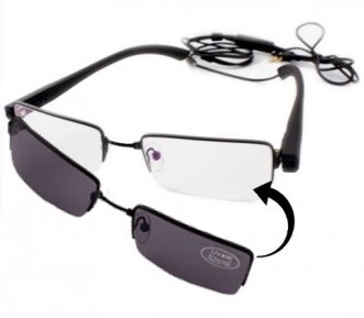Clear Glasses Hidden Spy Camera
