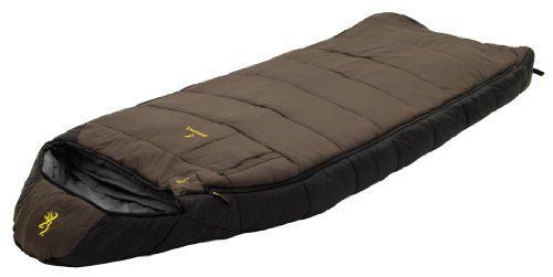 Browning Camping McKinley 30-Degree Nylon Diamond Ripstop Oversized Hooded Rectangle Sleeping Bag (36 x 90-Inch)
