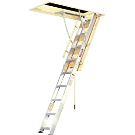 Werner A2208 300-Pound Duty Rating Aluminum Folding Access Ladder, 8-Foot