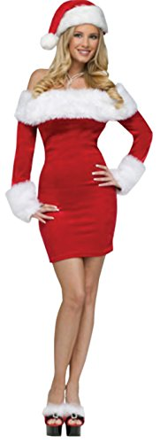 Funworld Womens Sexy Santa Sweetie Christmas Holiday Theme Party Fancy Costume