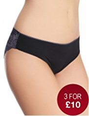 No VPL Low Rise Floral Lace Brazilian Knickers