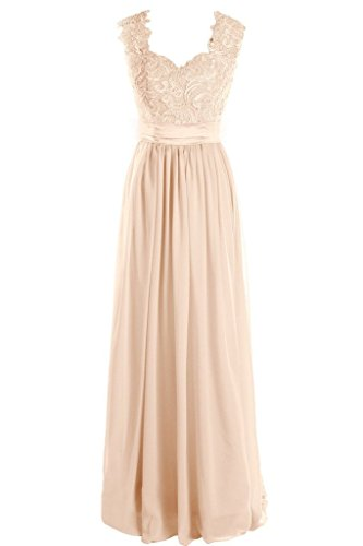 Dressever-Womens-V-Neck-Lace-Bridesmaid-Long-Formal-Prom-Gowns