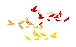 Djeco Enchanting Hanging Mobile, Sunset Birds