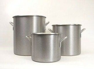 Vollrath 4303 8-Guage Aluminum Wear-Ever Classic Rolled Edge Stock Pot, 12-Quart
