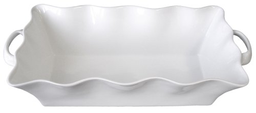 BIA Cordon Bleu Wavy Collection Loaf Pan with Handles, White - Buy BIA Cordon Bleu Wavy Collection Loaf Pan with Handles, White - Purchase BIA Cordon Bleu Wavy Collection Loaf Pan with Handles, White (BIA Cordon Bleu, Home & Garden, Categories, Kitchen & Dining, Cookware & Baking, Baking, Bread & Loaf Pans, Loaf Pans)